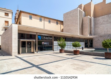 VALENCIA,SPAIN-MAY 9,2018: Almoina, archaeological museum in city center of Valencia.