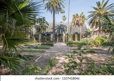 VALENCIA,SPAIN-MAY 9,2018: Botanical garden of Valencia.
