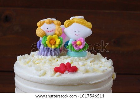 Valentine Cake Lover Doll Sugar Icing Stock Photo Edit Now