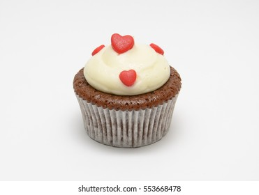 Valentine Colorful Cup Cake wihte background
