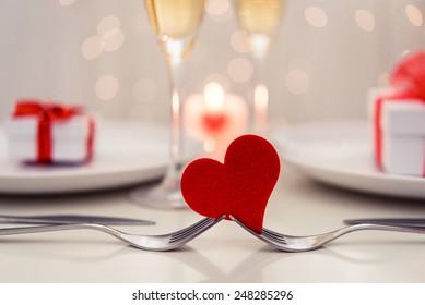 Valentine' day dinner