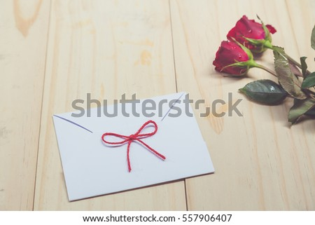 Valentine Gifts Wooden Background Stock Photo Edit Now 557906407