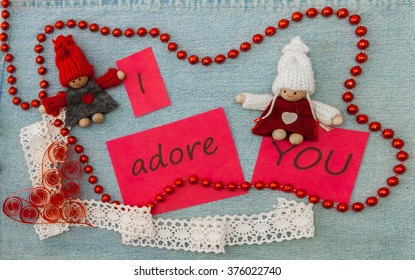 Valentine Greeting Card Red Quilling Heart Stock Photo Edit Now