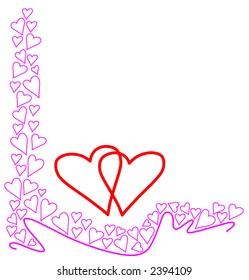 Valentine L (love) frame