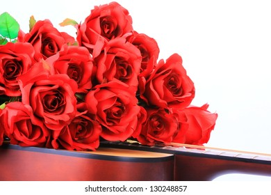 A valentine rose gift concept