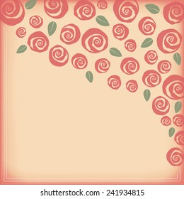 Valentine and wedding border bouquet of swirly roses