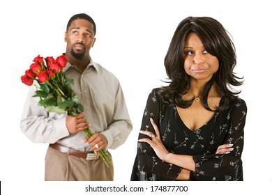 Valentine: Woman Upset at Boyfriend