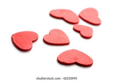 Valentine written in coloful heart decorations