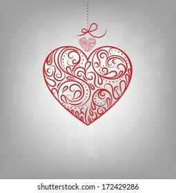 Valentine's Background With Design Heart