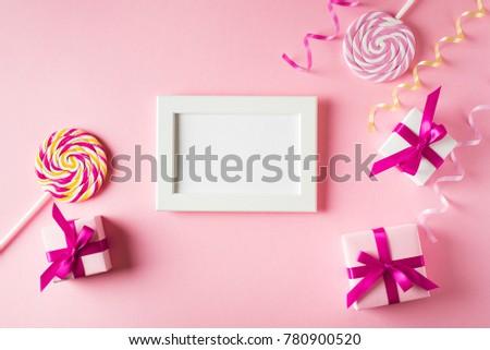 Valentines Birthday Card Gift Lollipop Poster Stock Photo Edit Now