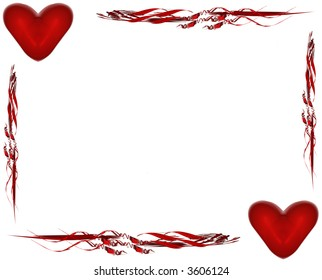 Valentine's Card with Border and Hearts I