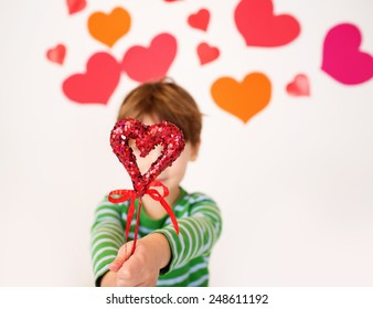 Valentine Day Craft Children Stock Photos Images Photography