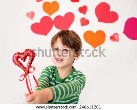 Valentines Day Arts Crafts Fun Hearts Stock Photo Edit Now