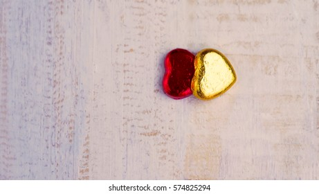 Valentines Day background , Abstract of Love , Love concept , two hearts on white background