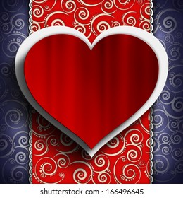 Valentine's Day background - Greeting card template