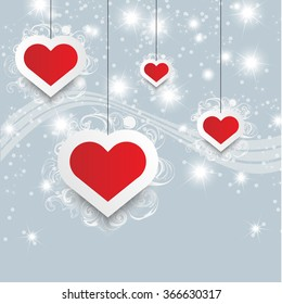 VALENTINE'S DAY BACKGROUND HEART AND STARS EVENT TEMPLATE