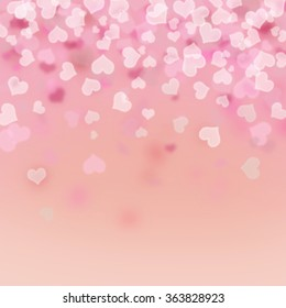 Valentine's day background with hearts.