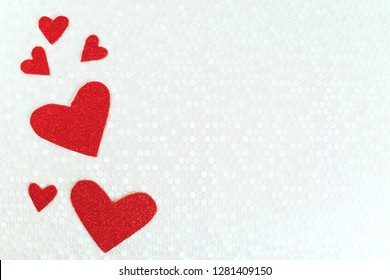 Valentine's day background with red hearts