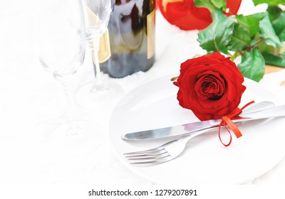 Valentine's Day. Beautiful background greeting card with a rose. Selective focus. Holiday.