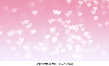 Valentine's day blur background Valentine's day card Multicolored pastel tones