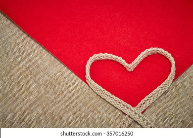 Valentine's Day card from the gray linen