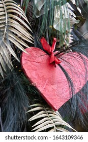 Valentines day card - heart made of wood. - Shutterstock ID 1643109346