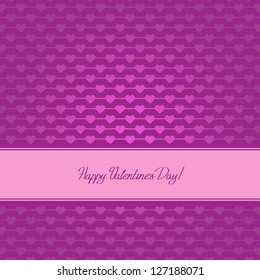 Valentine's day card with many hearts