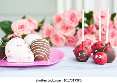 Valentine's Day and Chocolate Covered Strawberries