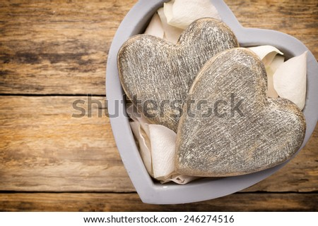 Valentines Day Decor Rustic Style Stock Photo Edit Now 246274516
