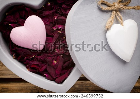 Valentines Day Decor Rustic Style Stock Photo Edit Now 246599752