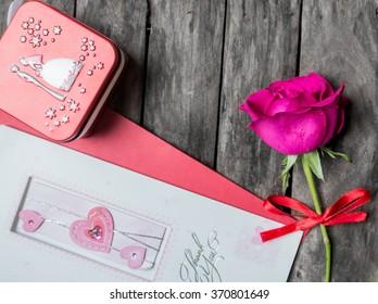 Valentine's day decoration and vintage background