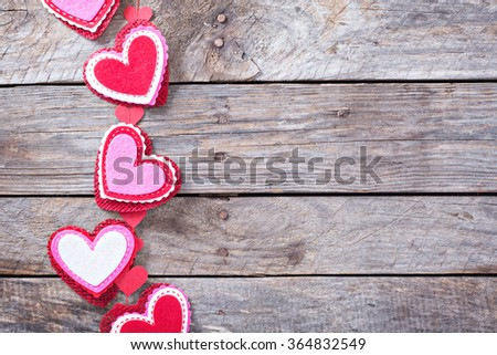 Valentines Day Decorations On Rustic Wooden Stock Photo Edit Now