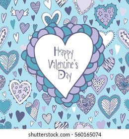 Valentine's Day designs romantic greeting card.