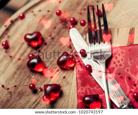 Valentines Day Dinner Table Stock Photo Edit Now 1020743197