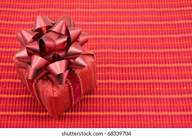 valentine's day gift with big red bow