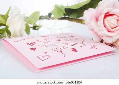 Valentine's Day, greeting card, flowers