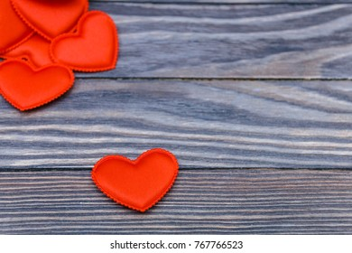 Valentines day. Valentines day greeting card. Heart on a wooden background. Heart of love