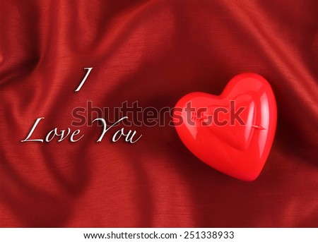 Valentines Day Greeting Card Silk Background Stock Photo Edit Now