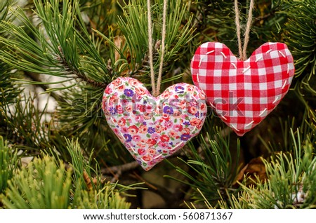 Valentines Day Hand Embroidered Decoration Heart Stock Photo Edit