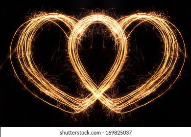 Valentines Day -  Hard Shape sparkler firework  alphabet