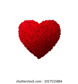 Valentines day Heart background with lot of hearts. illustration isolated on white