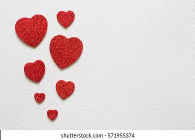 Valentines Day, heart with a place for inscription