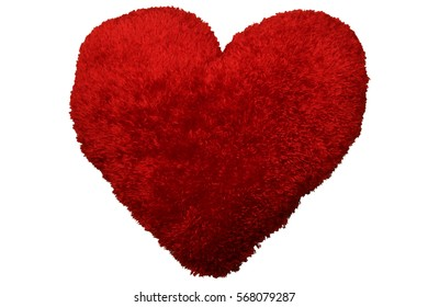 Valentines Day heart shaped pillow mockup