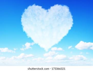 Valentine's day love clouds concept
