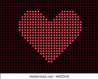 Valentine's day love heart light panel.