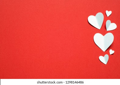 Valentine's Day postcard. Love concept for mother's day and valentine's day.  Top view. Copy space