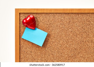 Valentine's day red heart and blue empty card