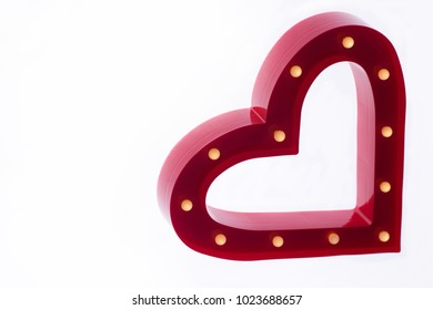 Valentines glowing heart