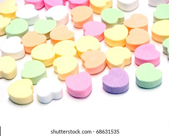 Valentines heart candy background