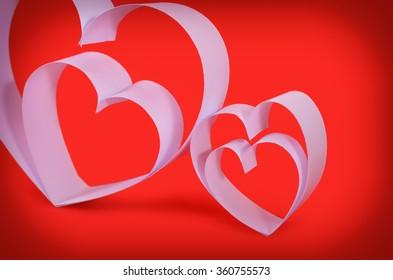valentine's paper hearts , valentine's day , day valentine